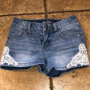 Justice Light Blue  Shorts Girls Size 7